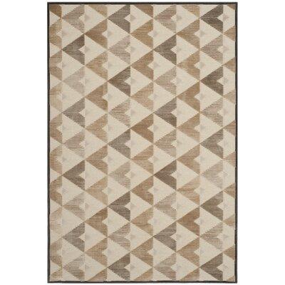 Scharff Soft Anthracite / Cream Geometric Area Rug Rug Size: 8 x 112