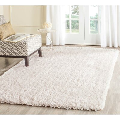 Bellar Shag Ivory Solid Rug Rug Size: Rectangle 86 x 12