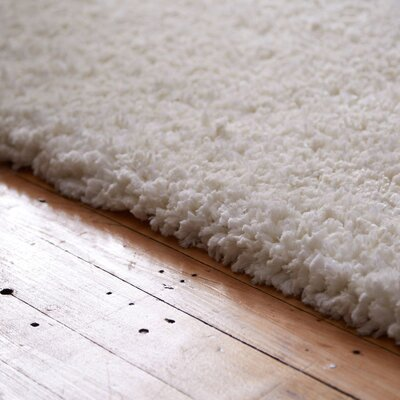 Bellar Shag Ivory Solid Rug Rug Size: Rectangle 26 x 4