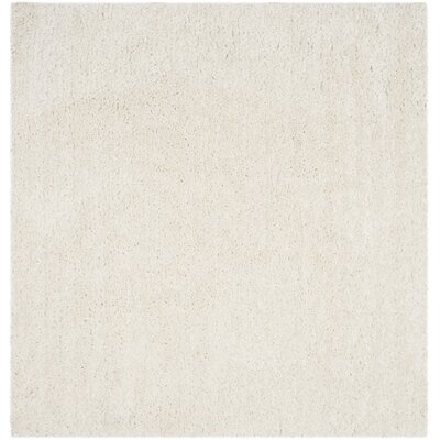 Sparrow Shag Ivory Solid Rug Rug Size: Square 6