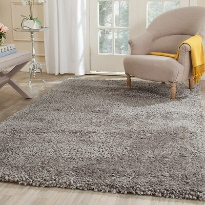 Bellar Shag Silver Solid Rug Rug Size: Rectangle 3 x 5