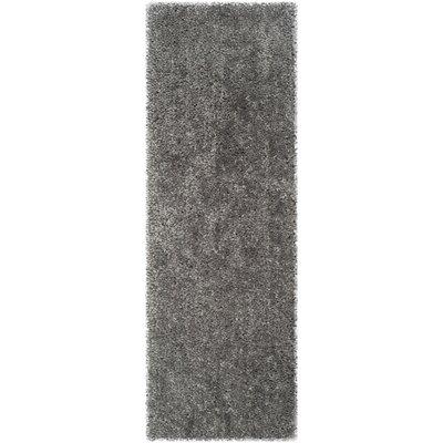Bellar Shag Silver Solid Rug Rug Size: Runner 23 x 7