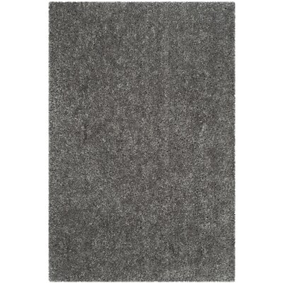 Bellar Shag Silver Solid Rug Rug Size: Rectangle 4 x 6