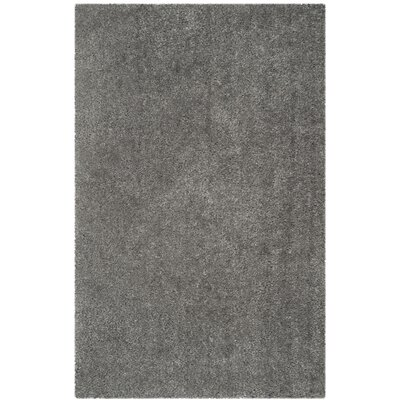 Bellar Shag Silver Solid Rug Rug Size: Rectangle 5 x 8
