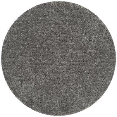 Bellar Shag Silver Solid Rug Rug Size: Round 6