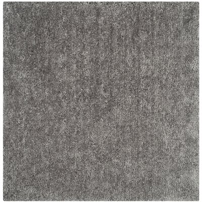 Sparrow Shag Silver Solid Rug Rug Size: Square 6