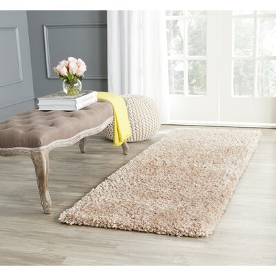 Bellar Shag Beige Area Rug Rug Size: Rectangle 3 x 5