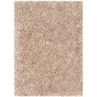 Sparrow Shag Beige Solid Area Rug Rug Size: 2 x 3