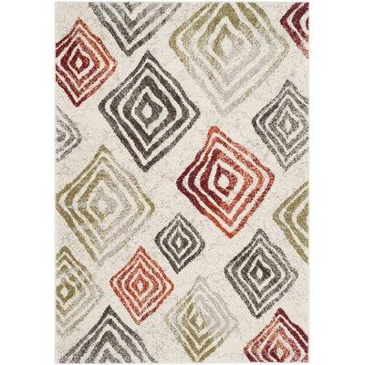 Shroyer Ivory / Green Geometric Rug Rug Size: 4 x 57