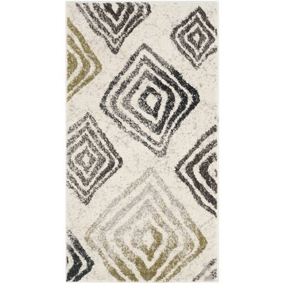 Shroyer Geometric Ivory/Black Area Rug Rug Size: Rectangle 2 x 37