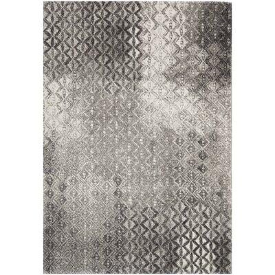 Shroyer Light Gray Area Rug Rug Size: 4 x 57