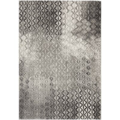 Shroyer Light Gray Area Rug Rug Size: 53 x 77