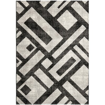 Shroyer Black / Gray Area Rug Rug Size: Rectangle 53 x 77