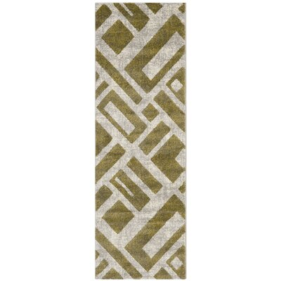 Shroyer Ivory Area Rug Rug Size: Runner 27 x 5