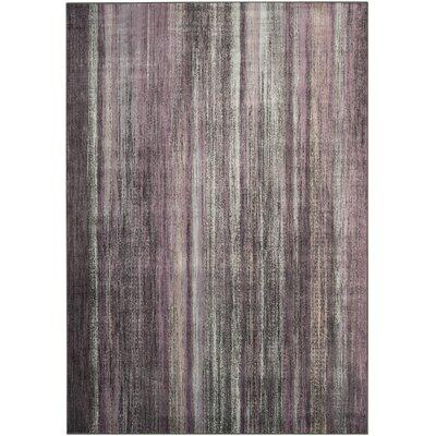 Zelda Purple/Charcoal Area Rug Rug Size: Rectangle 67 x 92