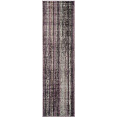 Shumway Charcoal / Multi Colored Rug Rug Size: Runner 22 x 8