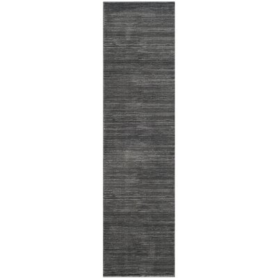 Harloe Solid Gray Area Rug Rug Size: Runner 22 x 8