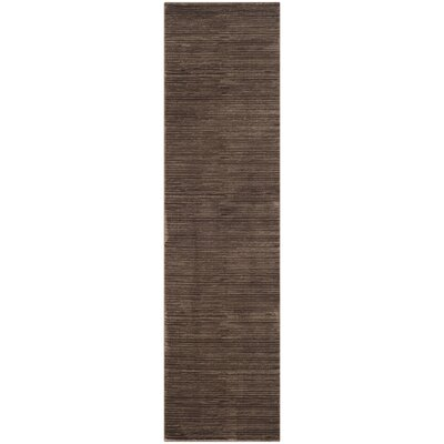 Harloe Brown Area Rug Rug Size: Runner 22 x 8