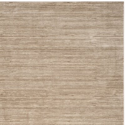 Harloe Light Brown Area Rug Rug Size: Rectangle 10 x 14