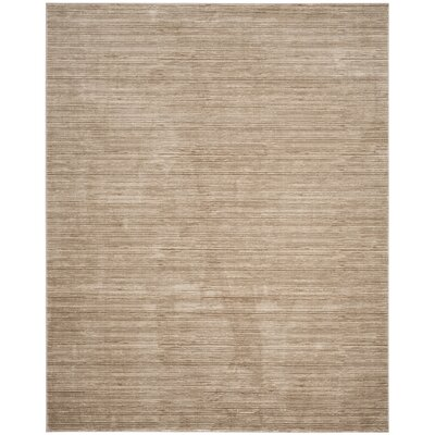 Harloe Solid Light Brown Area Rug Rug Size: 8 x 10