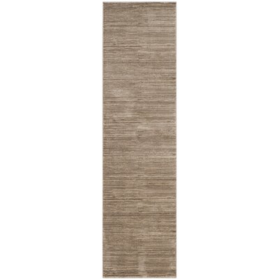 Harloe Light Brown Area Rug Rug Size: Runner 22 x 8