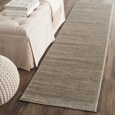 Harloe Solid Light Brown Area Rug Rug Size: Runner 22 x 8