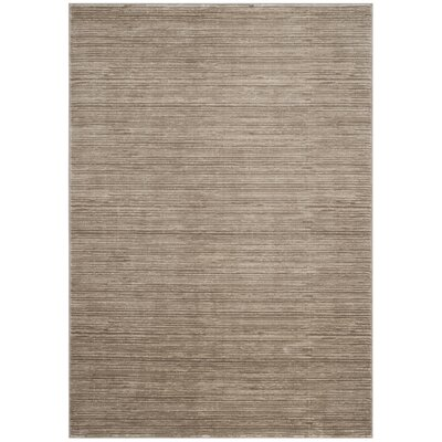 Harloe Solid Light Brown Area Rug Rug Size: 51 x 76