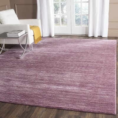 Harloe Purple Area Rug Rug Size: Rectangle 4 x 6