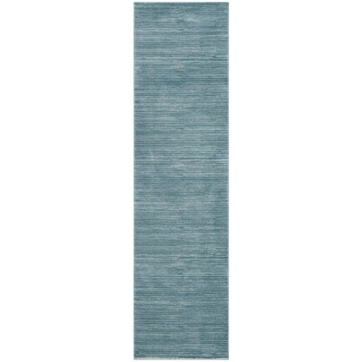 Harloe Aqua Area Rug Rug Size: Rectangle 10 x 14