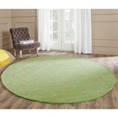 Wilkin Green Area Rug Rug Size: Round 7