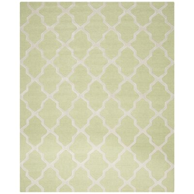 Charlenne Light Green/Ivory Area Rug Rug Size: 10 x 14