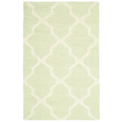 Martins Light Green/Ivory Area Rug Rug Size: 26 x 4
