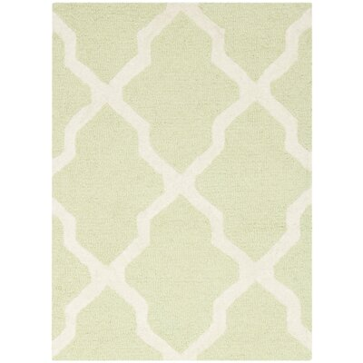 Charlenne Light Green/Ivory Area Rug Rug Size: 2 x 3