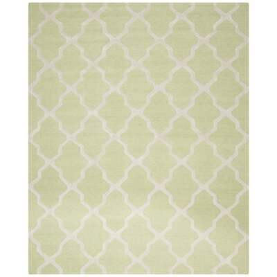 Charlenne Light Green/Ivory Area Rug Rug Size: 8 x 10