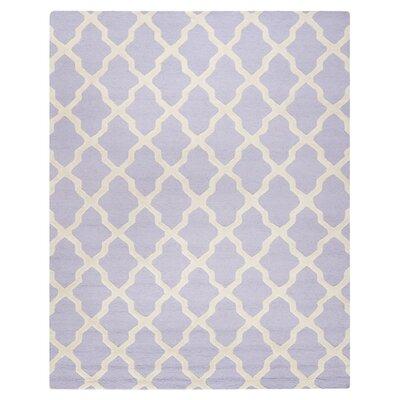 Charlenne Wool Lavender & Ivory Area Rug Rug Size: 11 x 15
