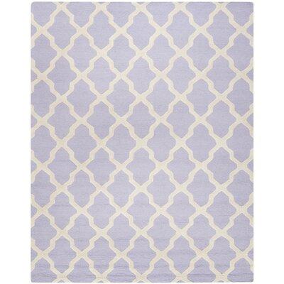 Martins Lavender & Ivory Area Rug Rug Size: 10' x 14'
