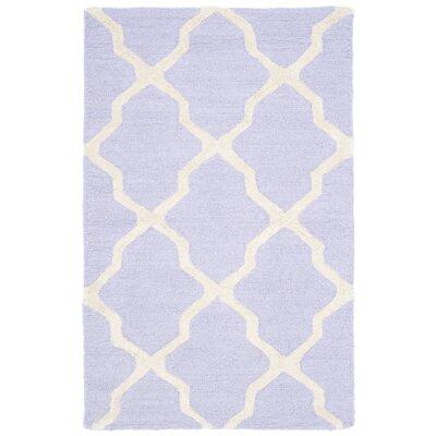 Martins Lavender & Ivory Area Rug Rug Size: 2'6