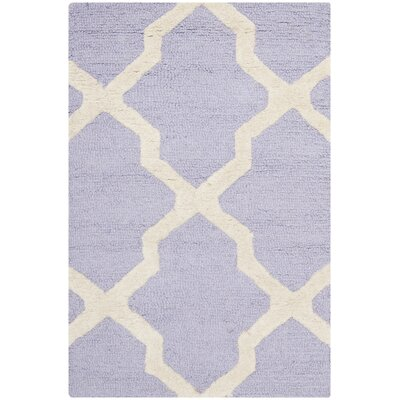 Charlenne Wool Lavender & Ivory Area Rug Rug Size: 2 x 3