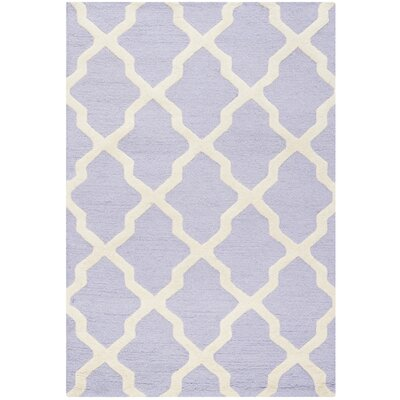Charlenne Wool Lavender & Ivory Area Rug Rug Size: 3 x 5