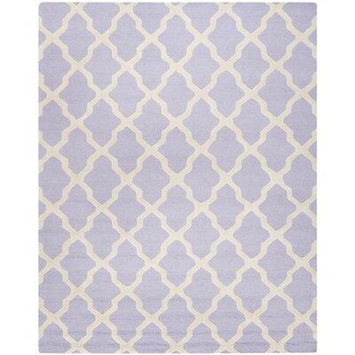 Charlenne Wool Lavender & Ivory Area Rug Rug Size: 9 x 12