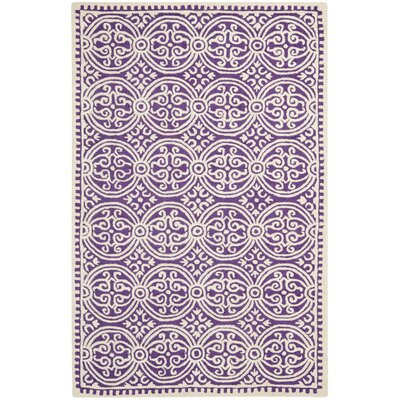 Fairburn Purple / Ivory Area Rug Rug Size: Rectangle 6 x 9