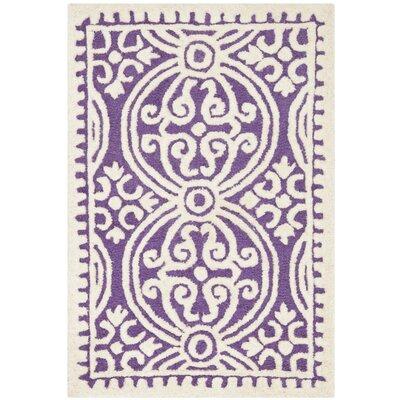 Fairburn Purple   Area Rug Rug Size: Rectangle 2 x 3
