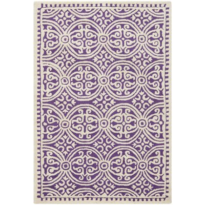 Fairburn Purple / Ivory Area Rug Rug Size: Rectangle 3 x 5