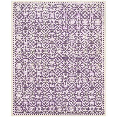 Martins Purple / Ivory Area Rug Rug Size: 8' x 10'