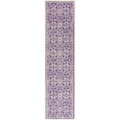 Martins Purple / Ivory Area Rug Rug Size: Runner 26 x 6