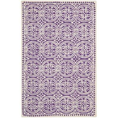 Martins Purple / Ivory Area Rug Rug Size: 4 x 6