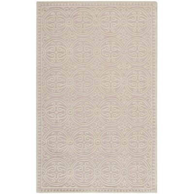 Charlenne Hand-Tufted Light Pink/Ivory Area Rug Rug Size: Square 6