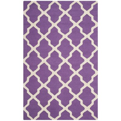 Martins Purple / Ivory Area Rug Rug Size: 6 x 9