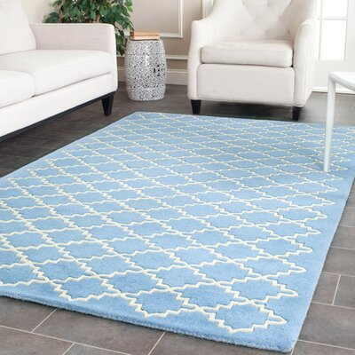 Wilkin Blue Cream Area Rug Rug Size: Rectangle 4 x 6