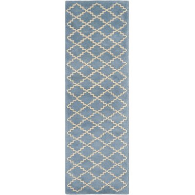 Wilkin Blue Grey Area Rug Rug Size: Runner 23 x 5